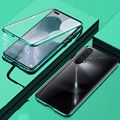 Luxury Aluminum Metal Frame Mirror Cover Case 360 Degrees for Realme X50m 5G Green