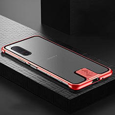 Luxury Aluminum Metal Frame Mirror Cover Case 360 Degrees for Sony Xperia 5 II Red