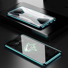 Luxury Aluminum Metal Frame Mirror Cover Case 360 Degrees for Xiaomi Black Shark 3 Green