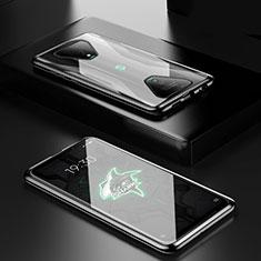 Luxury Aluminum Metal Frame Mirror Cover Case 360 Degrees for Xiaomi Black Shark 3 Pro Black