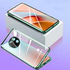Luxury Aluminum Metal Frame Mirror Cover Case 360 Degrees for Xiaomi Mi 10i 5G Green