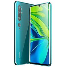 Luxury Aluminum Metal Frame Mirror Cover Case 360 Degrees for Xiaomi Mi Note 10 Pro Green