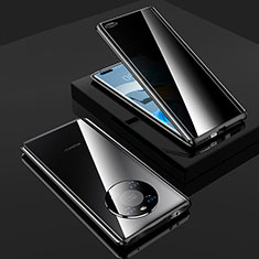 Luxury Aluminum Metal Frame Mirror Cover Case 360 Degrees K01 for Huawei Mate 40 Pro Black