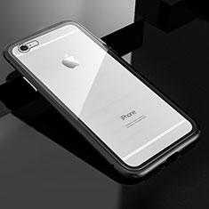 Luxury Aluminum Metal Frame Mirror Cover Case 360 Degrees M01 for Apple iPhone 6S Plus Black