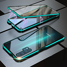Luxury Aluminum Metal Frame Mirror Cover Case 360 Degrees M01 for Huawei Honor 20 Pro Green