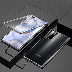 Luxury Aluminum Metal Frame Mirror Cover Case 360 Degrees M01 for Huawei Honor 30 Pro Black
