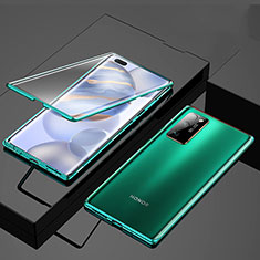 Luxury Aluminum Metal Frame Mirror Cover Case 360 Degrees M01 for Huawei Honor 30 Pro Green