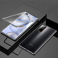 Luxury Aluminum Metal Frame Mirror Cover Case 360 Degrees M01 for Huawei Honor 30 Pro+ Plus Black