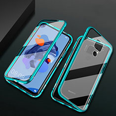 Luxury Aluminum Metal Frame Mirror Cover Case 360 Degrees M01 for Huawei Mate 30 Lite Green