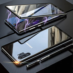 Luxury Aluminum Metal Frame Mirror Cover Case 360 Degrees M01 for Samsung Galaxy Note 10 Plus Black
