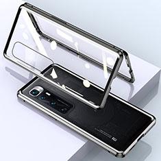 Luxury Aluminum Metal Frame Mirror Cover Case 360 Degrees M01 for Xiaomi Mi 10 Ultra Black
