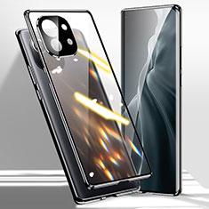Luxury Aluminum Metal Frame Mirror Cover Case 360 Degrees M01 for Xiaomi Mi 11 5G Black