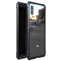 Luxury Aluminum Metal Frame Mirror Cover Case 360 Degrees M01 for Xiaomi Mi 8 Black