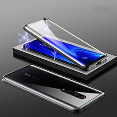 Luxury Aluminum Metal Frame Mirror Cover Case 360 Degrees M01 for Xiaomi Redmi K20 Pro Black
