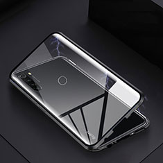Luxury Aluminum Metal Frame Mirror Cover Case 360 Degrees M01 for Xiaomi Redmi Note 8 Black