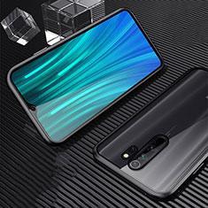 Luxury Aluminum Metal Frame Mirror Cover Case 360 Degrees M01 for Xiaomi Redmi Note 8 Pro Black
