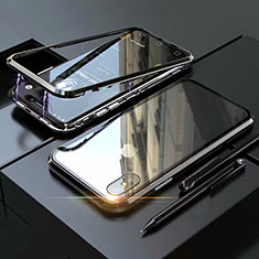 Luxury Aluminum Metal Frame Mirror Cover Case 360 Degrees M02 for Apple iPhone Xs Black