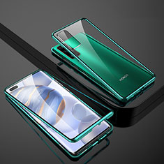 Luxury Aluminum Metal Frame Mirror Cover Case 360 Degrees M02 for Huawei Honor 30 Pro Green