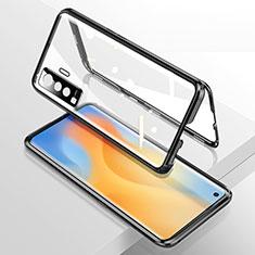 Luxury Aluminum Metal Frame Mirror Cover Case 360 Degrees M02 for Vivo X50 5G Black