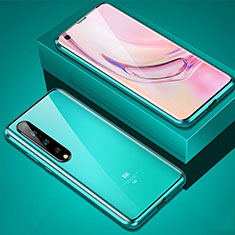 Luxury Aluminum Metal Frame Mirror Cover Case 360 Degrees M02 for Xiaomi Mi 10 Pro Green