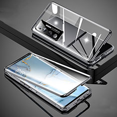 Luxury Aluminum Metal Frame Mirror Cover Case 360 Degrees M02 for Xiaomi Mi 10 Ultra Black