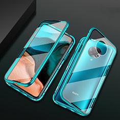 Luxury Aluminum Metal Frame Mirror Cover Case 360 Degrees M02 for Xiaomi Poco F2 Pro Green