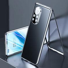 Luxury Aluminum Metal Frame Mirror Cover Case 360 Degrees M03 for Huawei Nova 8 Pro 5G Black