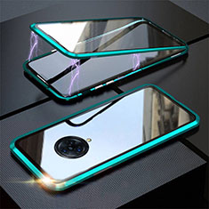 Luxury Aluminum Metal Frame Mirror Cover Case 360 Degrees M03 for Vivo Nex 3 Green