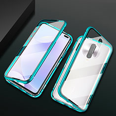 Luxury Aluminum Metal Frame Mirror Cover Case 360 Degrees M03 for Xiaomi Poco X2 Green