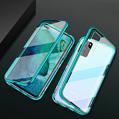 Luxury Aluminum Metal Frame Mirror Cover Case 360 Degrees M04 for Huawei Honor View 30 5G Green
