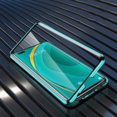 Luxury Aluminum Metal Frame Mirror Cover Case 360 Degrees M04 for Huawei Nova 7 Pro 5G Green