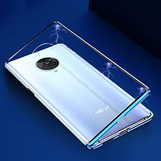 Luxury Aluminum Metal Frame Mirror Cover Case 360 Degrees M04 for Vivo Nex 3 Blue