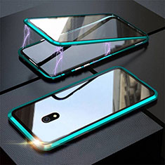 Luxury Aluminum Metal Frame Mirror Cover Case 360 Degrees M04 for Xiaomi Redmi 8A Green