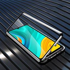 Luxury Aluminum Metal Frame Mirror Cover Case 360 Degrees M05 for Huawei Enjoy 10e Black