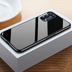 Luxury Aluminum Metal Frame Mirror Cover Case 360 Degrees M05 for Oppo Reno5 Pro 5G Black