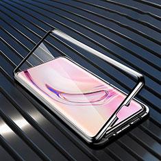 Luxury Aluminum Metal Frame Mirror Cover Case 360 Degrees M08 for Xiaomi Mi 10 Pro Black