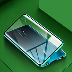 Luxury Aluminum Metal Frame Mirror Cover Case 360 Degrees M09 for Realme X2 Pro Green