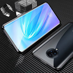 Luxury Aluminum Metal Frame Mirror Cover Case 360 Degrees M09 for Vivo Nex 3 Black