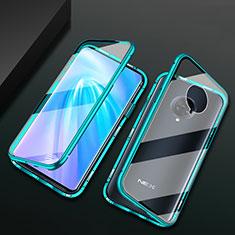 Luxury Aluminum Metal Frame Mirror Cover Case 360 Degrees M10 for Vivo Nex 3S Green