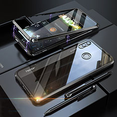 Luxury Aluminum Metal Frame Mirror Cover Case 360 Degrees P01 for Huawei Honor 8X Black