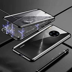 Luxury Aluminum Metal Frame Mirror Cover Case 360 Degrees T01 for Huawei Mate 30 Pro 5G Black