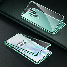 Luxury Aluminum Metal Frame Mirror Cover Case 360 Degrees T01 for OnePlus 8 Pro Green
