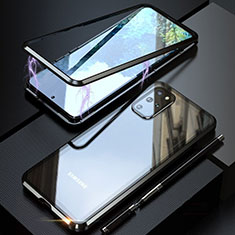 Luxury Aluminum Metal Frame Mirror Cover Case 360 Degrees T01 for Samsung Galaxy S20 Plus 5G Black