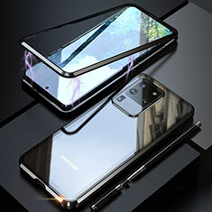 Luxury Aluminum Metal Frame Mirror Cover Case 360 Degrees T01 for Samsung Galaxy S20 Ultra 5G Black