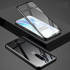 Luxury Aluminum Metal Frame Mirror Cover Case 360 Degrees T02 for OnePlus 8 Pro Black