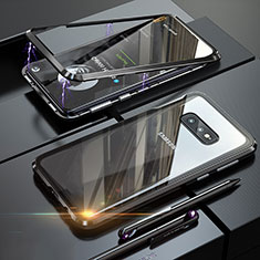 Luxury Aluminum Metal Frame Mirror Cover Case 360 Degrees T02 for Samsung Galaxy S10e Black