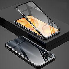 Luxury Aluminum Metal Frame Mirror Cover Case 360 Degrees T03 for Huawei P40 Lite Black
