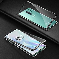 Luxury Aluminum Metal Frame Mirror Cover Case 360 Degrees T03 for OnePlus 8 Black