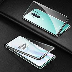 Luxury Aluminum Metal Frame Mirror Cover Case 360 Degrees T03 for OnePlus 8 Pro Black