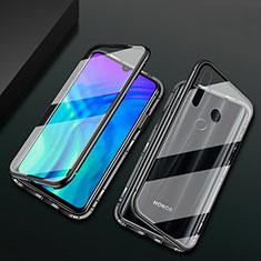 Luxury Aluminum Metal Frame Mirror Cover Case 360 Degrees T04 for Huawei Honor 20 Lite Black